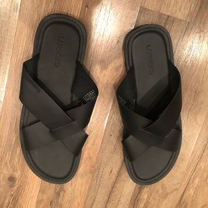 Land's end leather Sandals!